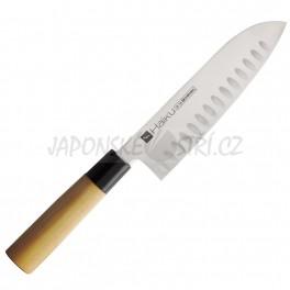 H-16 - Haiku Santoku nůž vroubkovaný, ostří 17cm