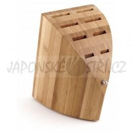 P-13 - CHROMA Type 301 dřevěný blok na 8 nožů, Bambusové dřevo