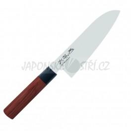 MGR-0170S - Seki Magoroku RED WOOD Santoku, ostří 17cm