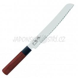 MGR-0225B - Seki Magoroku RED WOOD nůž na pečivo, ostří 22,5cm